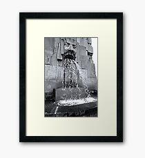 Milan Train Station Fountain Framed Print