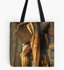 The Statue Of St Bartholomew In Milan Cathedral Tote Bag