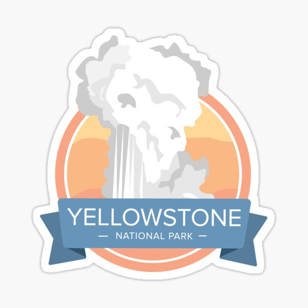 Yellowstone National Park Graphic Badge Sticker