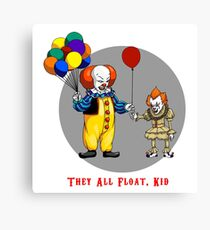 They all float Kid Canvas Print