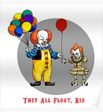 They all float Kid Poster