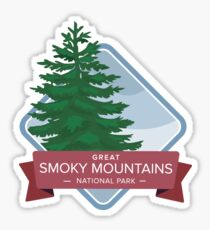 Great Smoky Mountains National Park Graphic Badge Sticker