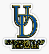 University of Delaware, with Drop Shadow  Sticker