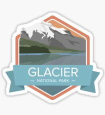 Glacier National Park Graphic Badges Sticker