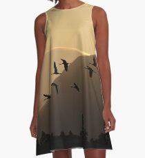Cranes at Sunrise A-Line Dress