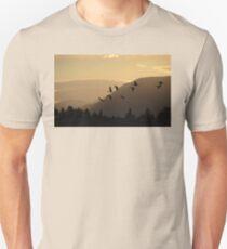 Cranes at Sunrise Unisex T-Shirt
