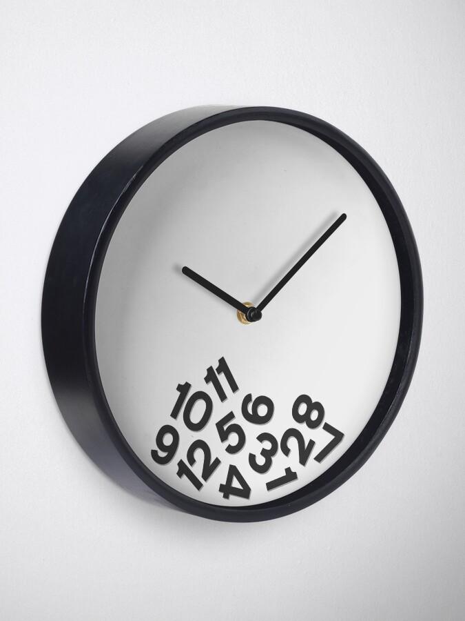 Alternate view of Fallen Numbers Clock Black Clock