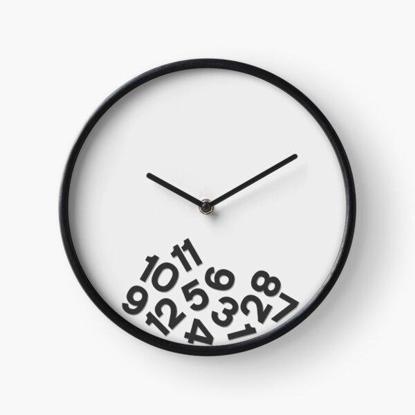 Fallen Numbers Clock Black Clock