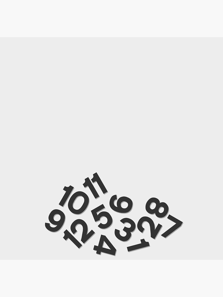 Fallen Numbers Clock Black by flashman