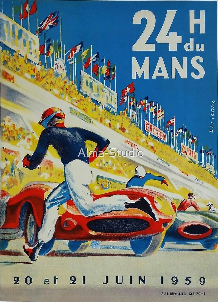 24hs Le Mans, 1959 by Alma-Studio