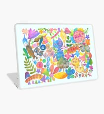 Cats in Whimsical Garden Laptop Skin