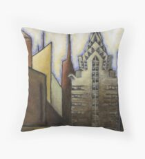 Chysler Building- Abstract Throw Pillow
