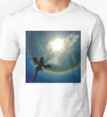 Rainbow circled Sun Unisex T-Shirt