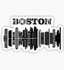Boston City Skyline  Sticker