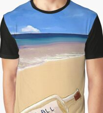 Message In The Bottle Graphic T-Shirt