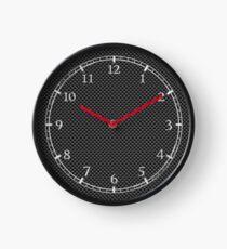 Digital Black Carbon Fiber Print Clock