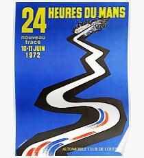 24hs Le Mans, 1972 Poster