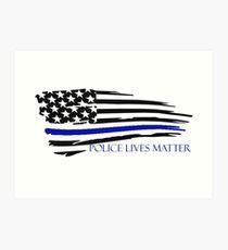 Police Lives Matter Art Print
