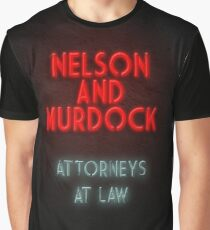 Nelson and Murdock ATTORNEYS AT LAW Graphic T-Shirt