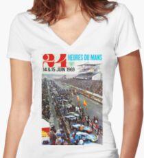 24hs Le Mans, 1969 Women's Fitted V-Neck T-Shirt