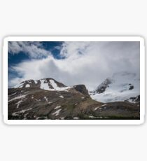 Cloud and Snow Capped Peaks in Jasper National Park, Alberta Sticker