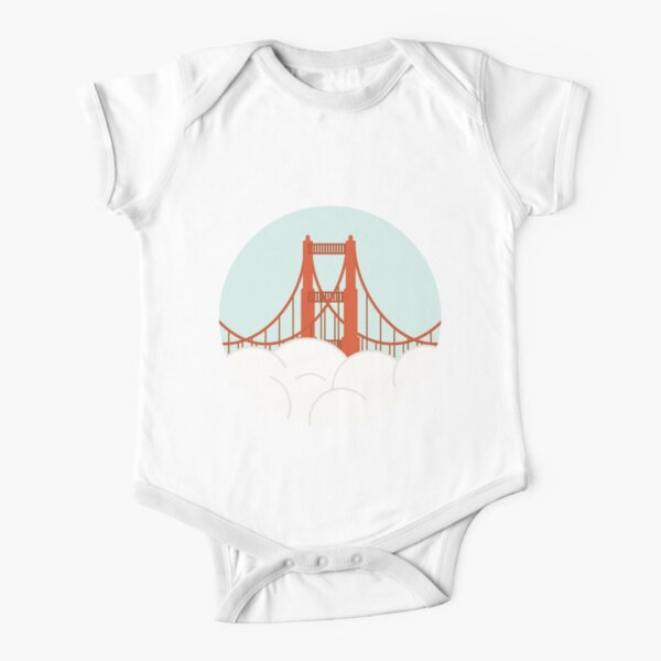 Golden Gate - San Francisco Short Sleeve Baby One-Piece