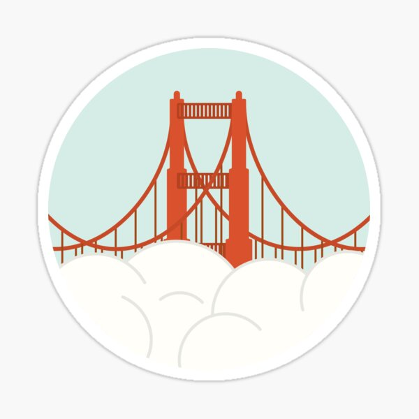 Golden Gate - San Francisco Sticker