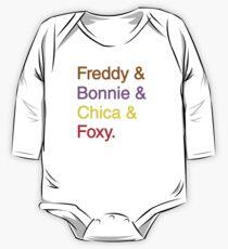 freddy & bonnie & chica & foxy One Piece - Long Sleeve