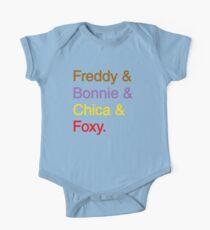 freddy & bonnie & chica & foxy One Piece - Short Sleeve