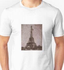 Eiffel tower digital painting Unisex T-Shirt