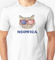 Meowica - Funny 4th of July Shirt for cat lovers T-Shirt
