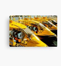 Yellow Taxi Boats Canvas Print