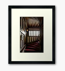 Bramall Hall - Stairs Framed Print