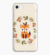 Little Fox with Autumn Berries iPhone Case/Skin