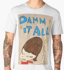 Yoshitomo Nara - Damn It All Men's Premium T-Shirt