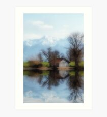 Chiemsee reflections Art Print