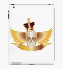Skull with Crown and WIngs Illustration iPad Case/Skin