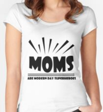 Mom are modern day superheroes Women's Fitted Scoop T-Shirt