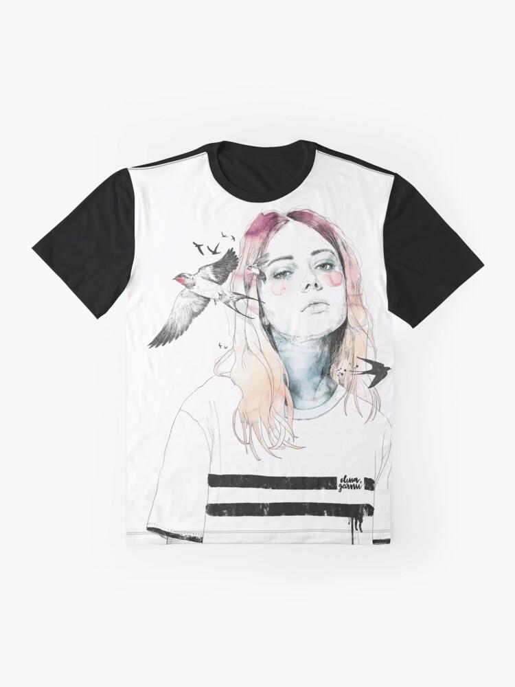 Vista alternativa de Camiseta gráfica TAKE OUT YOUR BIRDS