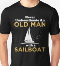 OLD MAN WITH A SAILBOAT Unisex T-Shirt