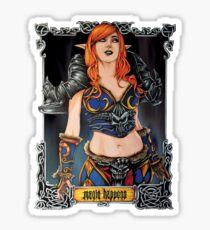 the dark elf queen Sticker