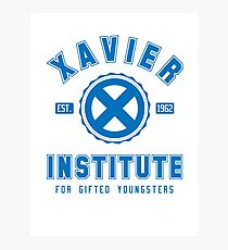 Xavier Institute (Blue) Photographic Print
