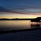Sunset over Lake Tahoe by Angela Rafter