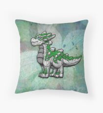 Moss and Stone Dragon Throw Pillow