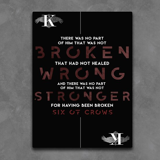 Broken, Wrong, Stronger by taketheread