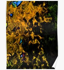 Gold Tree with Green Trees Poster