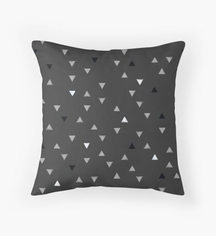 DOWN UP / cool grey / white / black Throw Pillow