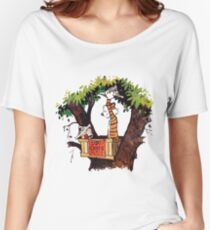 calvin and hobbes Women's Relaxed Fit T-Shirt
