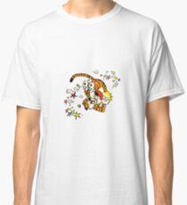 calvin and hobbes dancing Classic T-Shirt