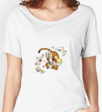 calvin and hobbes dancing Women's Relaxed Fit T-Shirt